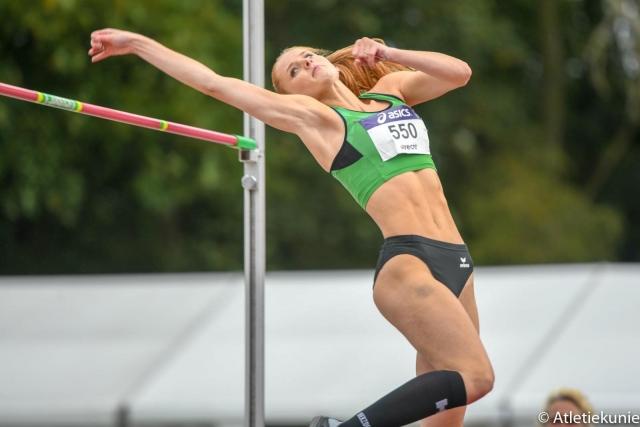 NK senioren: Britt Weerman Nederlands kampioen hoogspringen