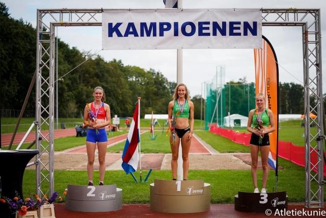 Sarah van Beilen Nederlands kampioen meerkamp U20